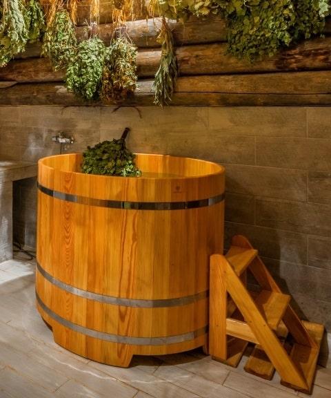 теплый пол в �ауне и бане